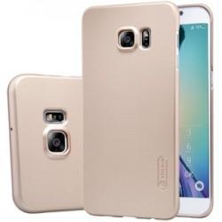 """Auksinės spalvos plastikinis dėklas Samsung Galaxy S6 Edge G925 Telefonui """"Nillkin Frosted Shield"""""""