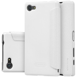 """Atverčiamas baltas dėklas Sony Xperia Z5 Compact Telefonui """"Nillkin Sparkle"""""""