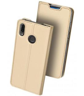"""Auksinės spalvos atverčiamas dėklas Huawei P Smart Z telefonui """"Dux Ducis Skin Pro"""""""