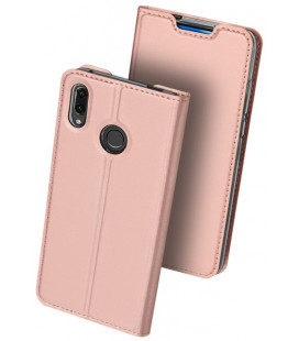 """Rausvai auksinės spalvos atverčiamas dėklas Huawei P Smart Z telefonui """"Dux Ducis Skin Pro"""""""