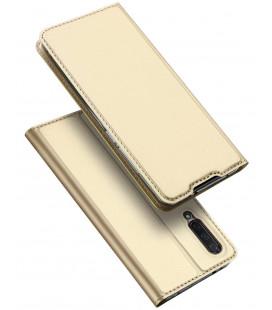 """Auksinės spalvos atverčiamas dėklas Xiaomi Mi A3 telefonui """"Dux Ducis Skin Pro"""""""