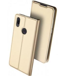 """Auksinės spalvos atverčiamas dėklas Xiaomi Redmi Note 7 telefonui """"Dux Ducis Skin Pro"""""""