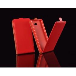 """Raudonas atverčiamas dėklas Samsung Galaxy A3 2016 A310F telefonui """"Telone Vertical POCKET"""""""