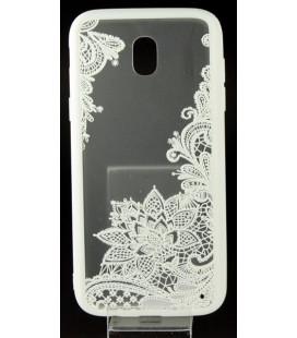 """Baltas dėklas su ornamentais Samsung Galaxy J5 2017 telefonui """"Lace Case D4"""""""