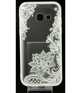 "Baltas dėklas su ornamentais Samsung Galaxy A3 2017 telefonui ""Lace Case D4"""