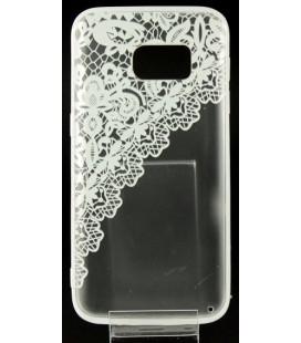 """Baltas dėklas su ornamentais Samsung Galaxy S7 telefonui """"Lace Case D2"""""""