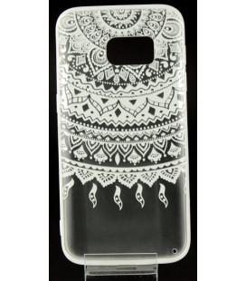 """Baltas dėklas su ornamentais Samsung Galaxy S7 telefonui """"Lace Case D1"""""""