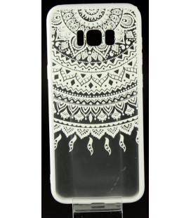 "Baltas dėklas su ornamentais Samsung Galaxy S8 Plus telefonui ""Lace Case D1"""