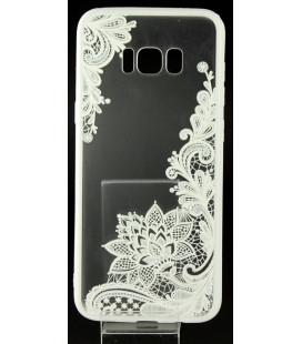 """Baltas dėklas su ornamentais Samsung Galaxy S8 Plus telefonui """"Lace Case D4"""""""