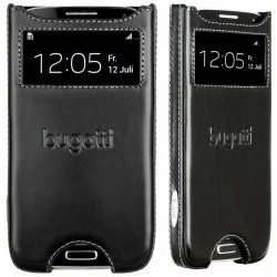 "Odinė juoda įmautė Samsung Galaxy S4 i9505 telefonui ""Bugatti Stockholm"""