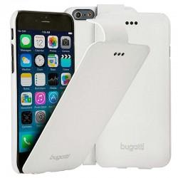 """Baltas atverčiamas dėklas Apple iPhone 6/6s telefonui """"Bugatti Geneva"""""""