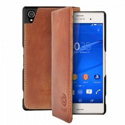 "Rudas atverčiamas dėklas Sony Xperia Z3 telefonui ""Bugatti BookCover"""