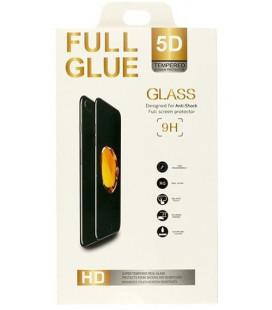 """5D Lenktas juodas apsauginis grūdintas stiklas Samsung Galaxy A40 telefonui """"Full Glue"""""""