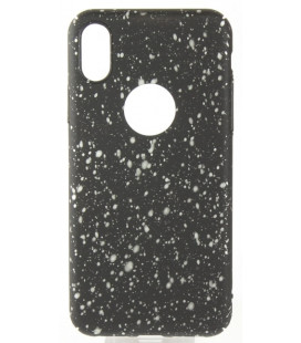 "Juodas - baltas dėklas Apple iPhone X telefonui ""Splash Soft Case"""