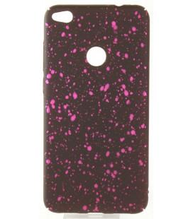 """Juodas - rožinis dėklas Huawei P8/P9 Lite 2017 telefonui """"Splash Soft Case"""""""