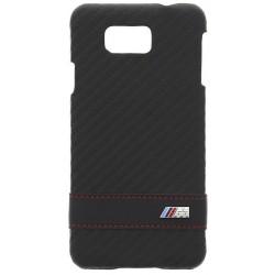 """Juodas Carbon dėklas Samsung Galaxy Alpha telefonui """"BMW"""""""