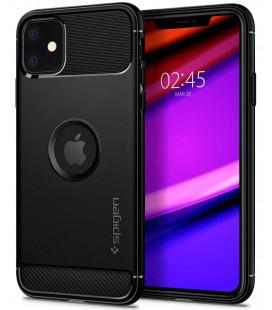 "Juodas dėklas Apple iPhone 11 telefonui ""Spigen Rugged Armor"""