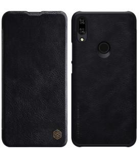 """Odinis juodas atverčiamas dėklas Huawei P Smart Z telefonui """"Nillkin Qin"""""""