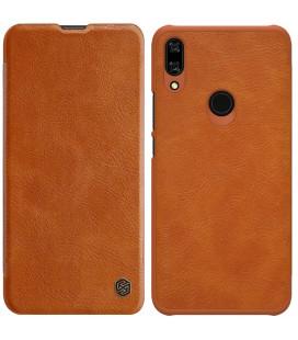 """Odinis rudas atverčiamas dėklas Huawei P Smart Z telefonui """"Nillkin Qin"""""""