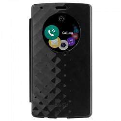 Originalus juodas atverčiamas dėklas LG G4 telefonui cfv-101 AGEUBK