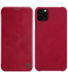 """Odinis raudonas atverčiamas dėklas Apple iPhone 11 Pro Max telefonui """"Nillkin Qin"""""""