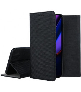 """Juodas atverčiamas dėklas Apple iPhone 11 Pro Max telefonui """"Smart Book Magnet"""""""