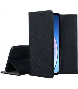 """Juodas atverčiamas dėklas Apple iPhone 11 telefonui """"Smart Book Magnet"""""""