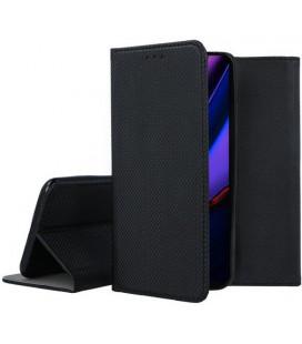 """Juodas atverčiamas dėklas Apple iPhone 11 Pro telefonui """"Smart Book Magnet"""""""