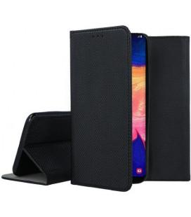 """Juodas atverčiamas dėklas Samsung Galaxy A10 telefonui """"Smart Book Magnet"""""""