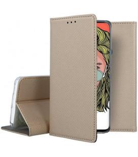"""Auksinės spalvos atverčiamas dėklas Huawei P Smart Z telefonui """"Smart Book Magnet"""""""