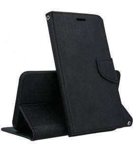 """Juodas atverčiamas dėklas Samsung Galaxy A10 telefonui """"Telone Fancy"""""""