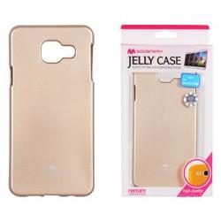 "Auksinės spalvos dėklas Mercury Goospery ""Jelly Case"" Samsung Galaxy A3 2016 (6) A310 telefonui"