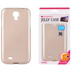 """Auksinės spalvos dėklas Mercury Goospery """"Jelly Case"""" Samsung Galaxy S4 I9500 telefonui"""