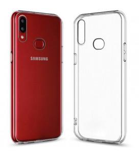 Skaidrus plonas 0,3mm silikoninis dėklas Samsung Galaxy A10S telefonui