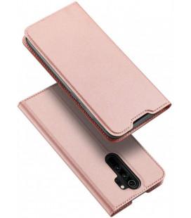 """Rausvai auksinės spalvos atverčiamas dėklas Xiaomi Redmi Note 8 Pro telefonui """"Dux Ducis Skin Pro"""""""