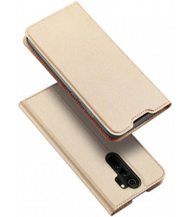 """Auksinės spalvos atverčiamas dėklas Xiaomi Redmi Note 8 Pro telefonui """"Dux Ducis Skin Pro"""""""