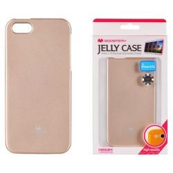 """Auksinės spalvos dėklas Mercury Goospery """"Jelly Case"""" Apple iPhone 5/5s telefonui"""