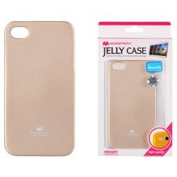 """Auksinės spalvos dėklas Mercury Goospery """"Jelly Case"""" Apple iPhone 4/4s telefonui"""