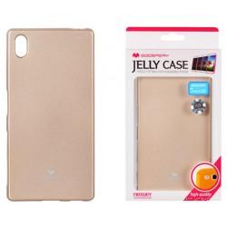 "Auksinės spalvos dėklas Mercury Goospery ""Jelly Case"" Sony Xperia Z5 telefonui"