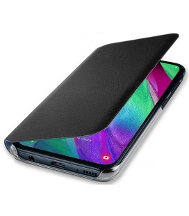 """Originalus juodas atverčiamas dėklas """"Wallet Cover"""" Samsung Galaxy A40 telefonui """"EF-WA405PBEGWW"""""""