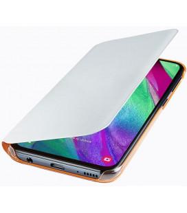 """Originalus baltas atverčiamas dėklas """"Wallet Cover"""" Samsung Galaxy A40 telefonui """"EF-WA405PWEGWW"""""""