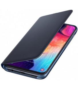 """Originalus juodas atverčiamas dėklas """"Wallet Cover"""" Samsung Galaxy A50 telefonui """"EF-WA505PBEGWW"""""""
