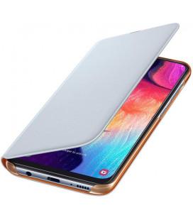 """Originalus baltas atverčiamas dėklas """"Wallet Cover"""" Samsung Galaxy A50 telefonui """"EF-WA505PWEGWW"""""""