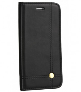 """Juodas atverčiamas dėklas Samsung Galaxy A10 telefonui """"Prestige Book"""""""