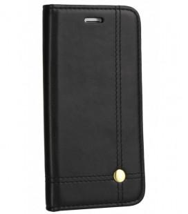 """Juodas atverčiamas dėklas Samsung Galaxy A40 telefonui """"Prestige Book"""""""