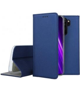 """Mėlynas atverčiamas dėklas Xiaomi Redmi Note 8 Pro telefonui """"Smart Book Magnet"""""""