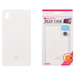 """Baltas dėklas Mercury Goospery """"Jelly Case"""" Sony Xperia Z5 telefonui"""