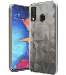 """Skaidrus dėklas Samsung Galaxy A20E telefonui """"Diamond Case"""""""