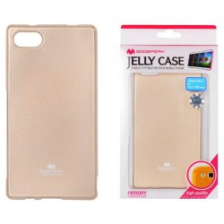 "Auksinės spalvos dėklas Mercury Goospery ""Jelly Case"" Sony Xperia Z5 Compact telefonui"
