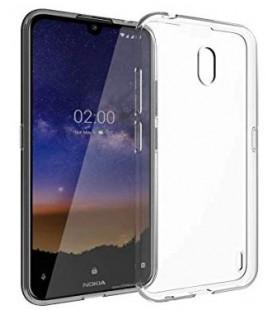 Skaidrus plonas 0,3mm silikoninis dėklas Nokia 2.2 telefonui